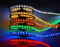 Лента светодиодная в силиконе 3528 24V 5 метров IP65 (цвета в ассортименте)