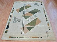 Бежевый ковер с абстракией, фото 1