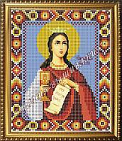 Схема для вышивания бисером Икона Святая мученица Варвара