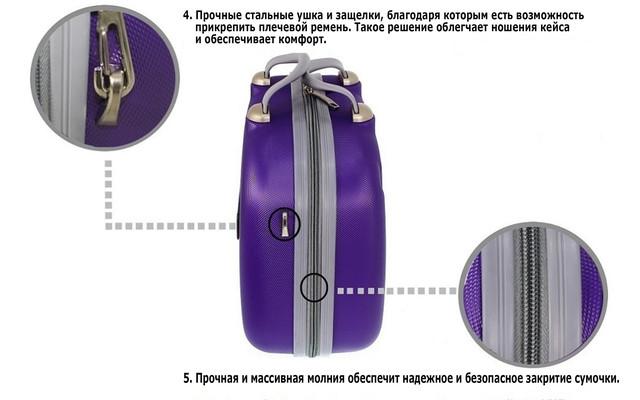 Сумочка-косметичка 882 з полікаброната. Середній розмір
