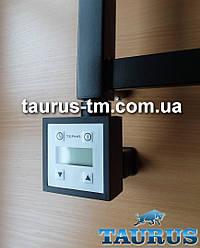 ЭлектроТЭН чёрный KTX3 MS BLACK c маскировкой: LCD экран + регулятор 30-60С + таймер 24ч. Мощность: 120-1000W