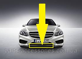 Хромовый молдинг центральная накладка на передний бампер Mercedes E W212 рестайлинг 2013-16 новая оригинал
