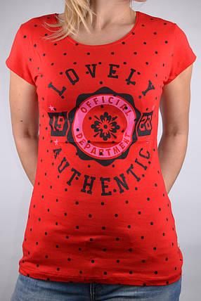Футболка Lovely Красная (W864/26)   4 шт., фото 2