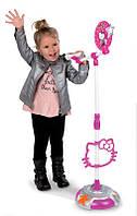 Оригинал. Музыкальный инструмент Микрофон со штативом Hello Kitty Smoby 27293