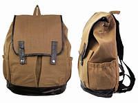 Подростковый рюкзак из натуральной холщовой ткани