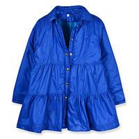 """Оригинальный плащ для девочки на холодную весеннюю погоду """"Эшли"""". синий, 104"""