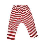 """Детские штанишки """"Малыш"""" 62, красный в полоску"""
