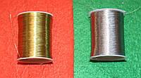 Нитки мулине люрекс 16053 серебро, фото 1