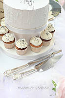"""Приборы для торта """" Обручальные кольца """""""