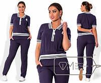 Женский летний спортивный костюм в больших размерах n-1515432