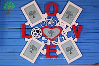 Фоторамка с надписью Love