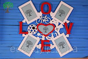 Фоторамка з написом Love