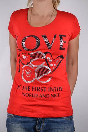 Футболка Love Красная (W864/29) | 4 шт., фото 2