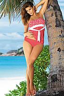 Модный, яркий пляжный костюм – танкини