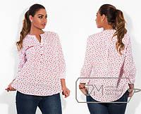 Стильная женская коттоновая рубашка большого размера в разных принтах и расцветках e-1515436