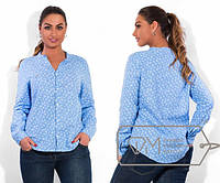 Льняная женская рубашка в больших размерах (в расцветках) r-1515437