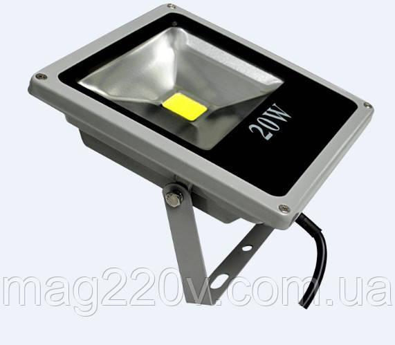 LED Прожектор Slim 20W, 1800lm, 6500К