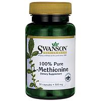 L-Метионин, 100% чистоты, 500 мг 30 капсул