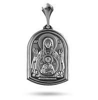 Серебряная ладанка образок Знамение