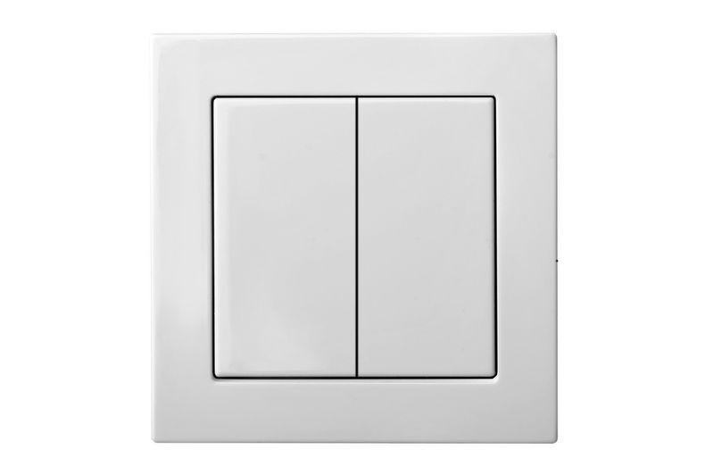 Выключатель 2 клавишный, белый цвет, Epsilon