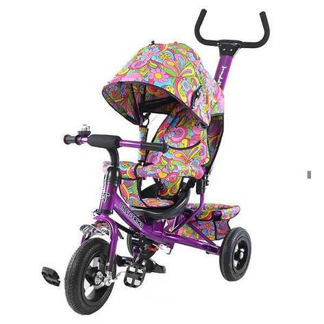 Велосипед трехколесный TILLY Trike, фиолетовый, с надувными колеса, фото 2