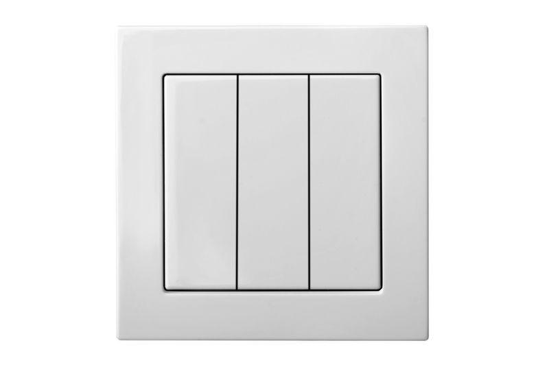 Выключатель 3 клавишный, белый цвет, Epsilon