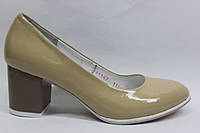 Лаковые туфли в бежевом цвете ТМ Max Mayar