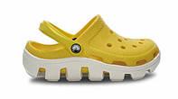 Сандалии женские Crocs (кроксы, шлепки) резиновые желтые