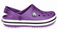 Сандалии женские Crocs (кроксы, шлепки) резиновые фиолеьовые