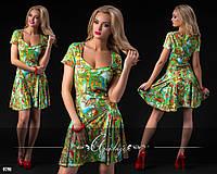 Платье летнее зеленое замша