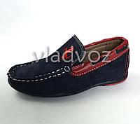 Мокасины, туфли Kellaifeng дизайн синий с красным 27р.