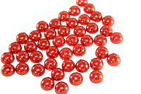 Полубусы (50 шт) 8мм Красный