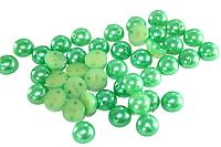 Полубусы (50 шт) 8мм Зеленый