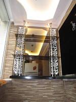 Зеркало бронза с декоративной подсветкой в виде узора