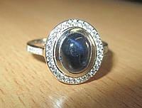 """Элегантное  кольцо """" Поэма"""" со звездчатым сапфиром, размер 19,41 от студии LadyStyle.Biz"""