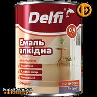 Эмаль алкидная для пола ТМ Delfi  ПФ-266 (0,9кг) желто-коричневая