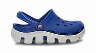 Сандалии детские Crocs (в стиле кроксы, шлепки) резиновые синие