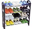 Полка для обуви Stackable Shoe Rack стойка органайзер для обуви, фото 3