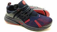 Кроссовки мужские Nike Presto синего цвета с красным