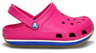 Сандалии детские Crocs (в стиле кроксы, шлепки) резиновые розовые