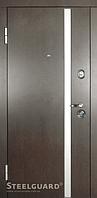 Входные наружные двери Стилград AV-1  Венге темный/Белый шелк, фото 1