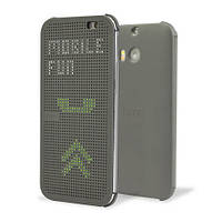 Чехол Dot View для HTC One M8 серый