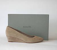 Женские туфельки Minelli Италия оригинал натуральная замша 38