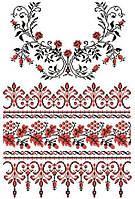 """Свадебный рушник """"Роза и грона"""" Рушник весільний. Схемы для вышивки бисером или нитками. Свадебные рушники"""