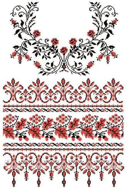 Весільний рушник схема для вышивки
