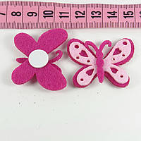 Декор фетр бабочка 3