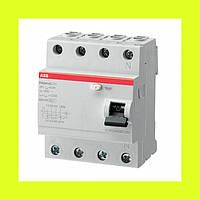 Устройства защитного отключения (УЗО) FH204 AC-25/0,3  ABB 25А 300мА 4-полюсные (3p+N)