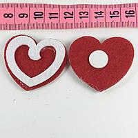 Декор фетр сердце 2