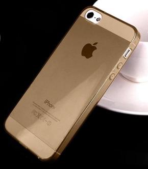 Силиконовый прозрачный чехол для iIphone 5/5S