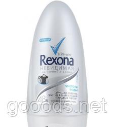 Шариковый дезодорант Rexona Невидимая защита на черном и белом